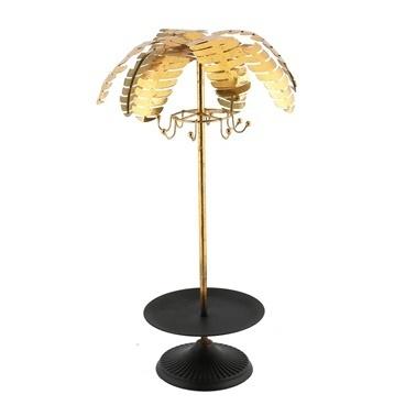Vitale Gold Palmiye Dekoratif Askılı Metal Ağaç Renkli